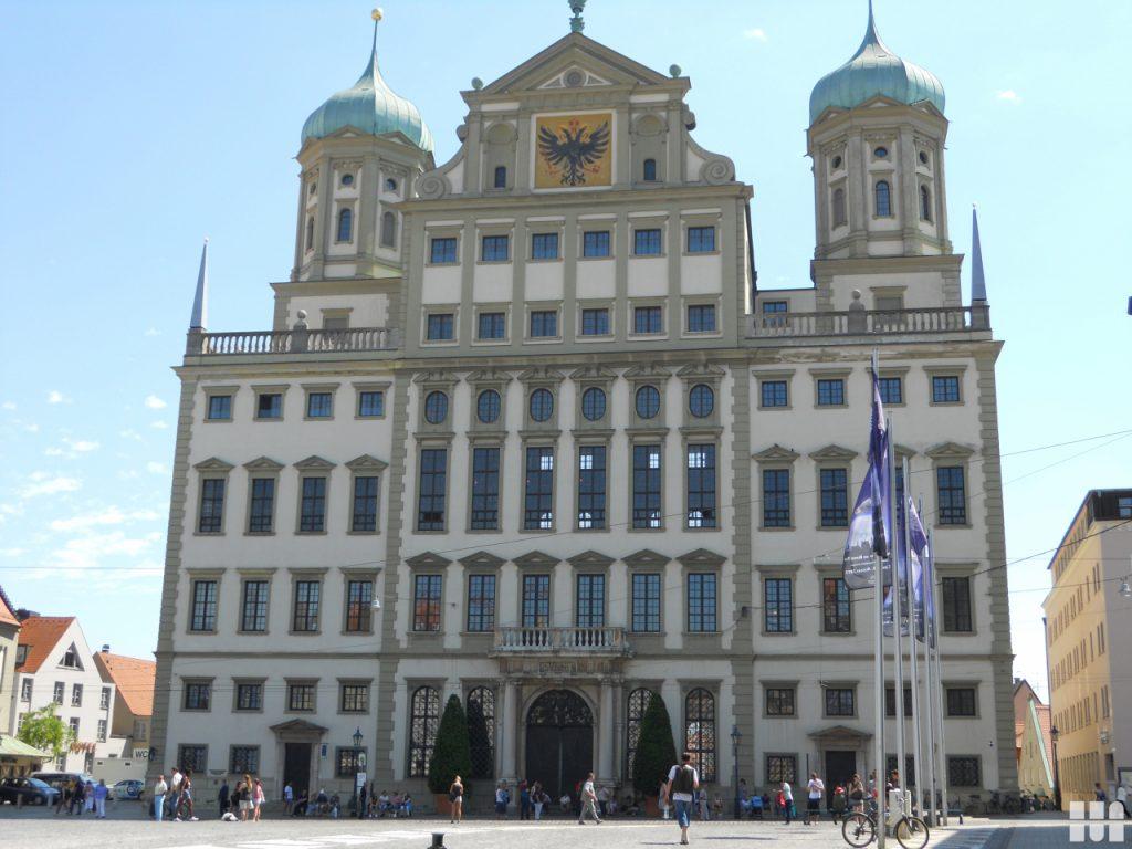 Geschichte Bild des Rathauses in Augsburg
